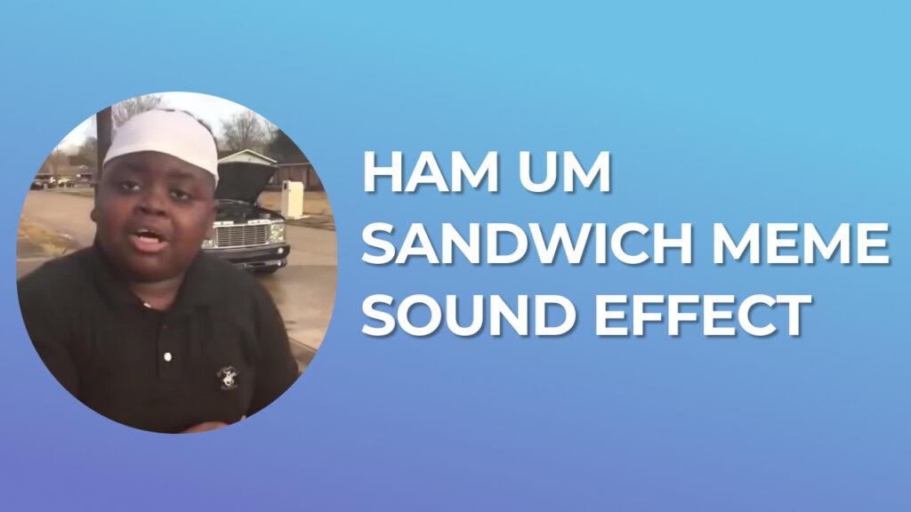 ham um sandwich meme Sound Effect