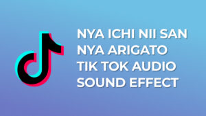Nya Ichi Nii San Nya Arigato Tik Tok Sound Effect