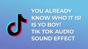 you already know who it is! is yo boy! - Tik Tok Audio Sound Effect
