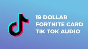 19 dollar fortnite card - Tik Tok Audio