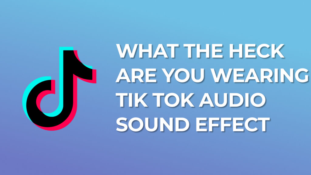 What the heck are you wearing - Tik Tok Audio Sound Effect