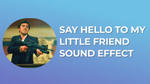 Say Hello To My Little Friend - Sound Effect download for free mp3