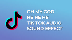 Oh my god he he he Tik Tok Audio Sound Effect download for free mp3